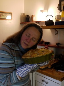 Kate listening to pies